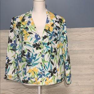 Floral print lightweight blazer / jacket